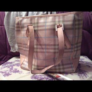 Vintage Burberry tote bag